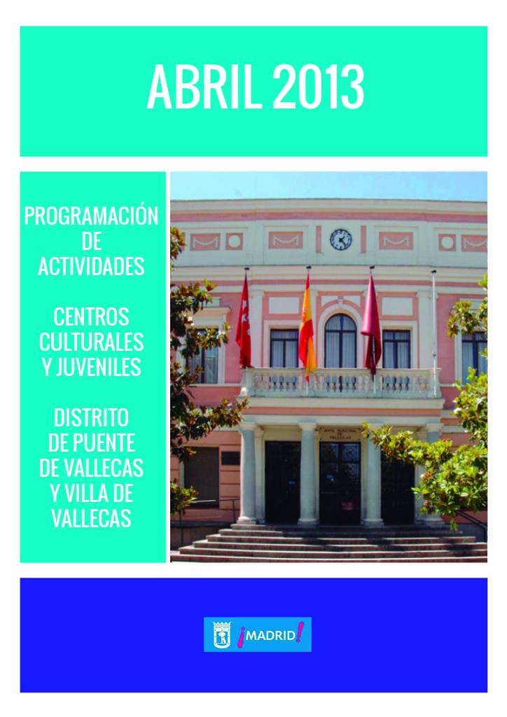 Abril 2013 - Agenda de Actividades - Feria del Libro