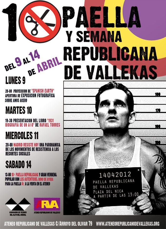 10ª Paella y semana Republicana de Vallecas