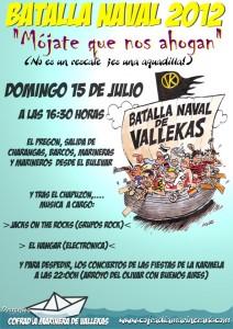 Cartel de la fiesta de la Batalla Naval 2012