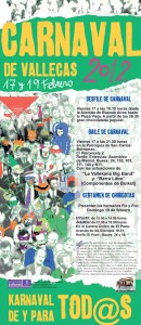 Cartel de Carnaval 2012 en Vallecas
