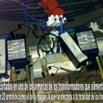 Imágenes del sabotaje de uno de los transformadores