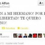 Twitter de la hermana de Alfon