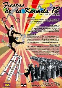 Cartel de la Fiesta de la Karmela 2012