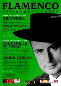 Cartel de Flamenco Vallecas 2012