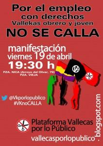 Cartel de difusión de la manifestación