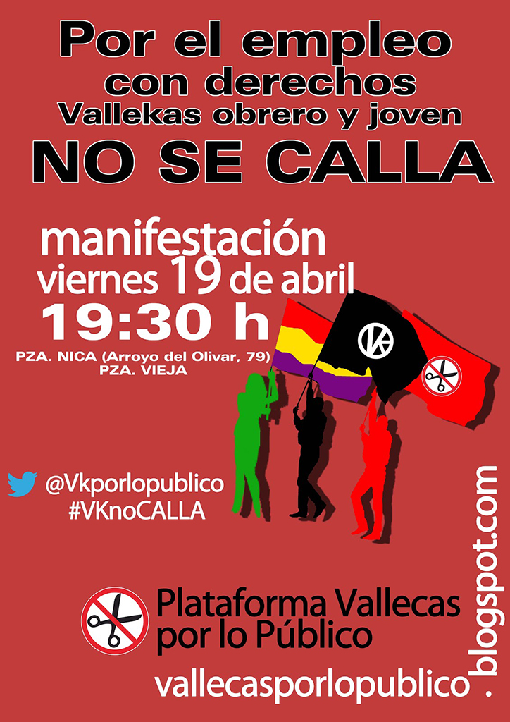 19 de Abril - Manifestación en Vallecas por el empleo juvenil