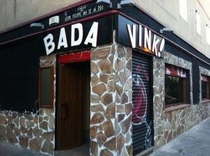 Entrada del Bar Bada Vink!