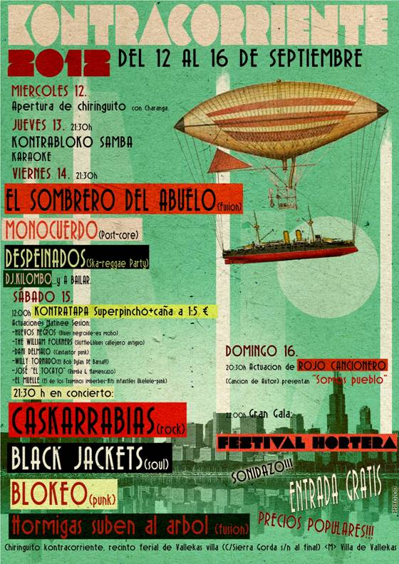 Fiestas 2012 de Villa de Vallekas - Kontracorriente