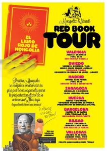 """Cartel y Agenda de """"El libro rojo de Mongolia"""""""