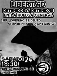 Cartel para difusión de la Manifestación para el 24-N