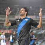 Diego Costa se lamenta de su remate alto