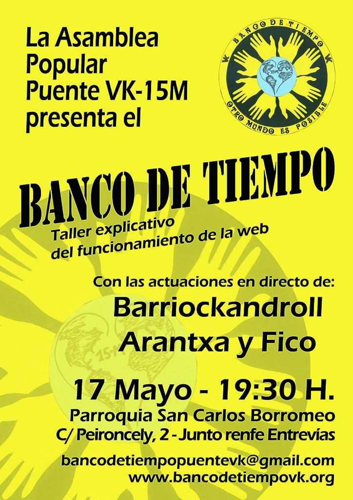 """Cartel inaugural del """"Banco del Tiempo"""""""