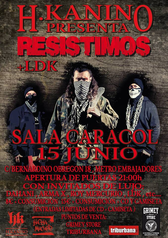"""Cartel del evento - Presentación de """"Resistimos"""" de H.Kanino"""