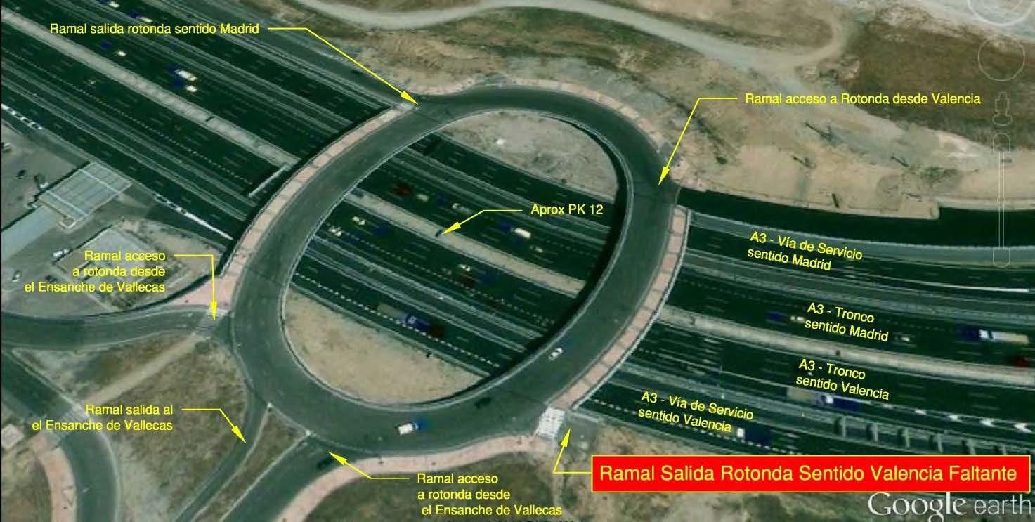 Conexión del Pau con la A-3 en sentido Valencia