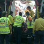Trasladan al herido al Hospital de La Paz
