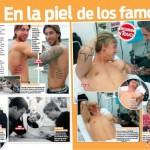 Leo Millares tatuando