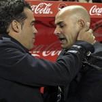 Paco Jémez y Luis García antes del encunentro