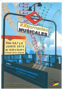 Cartel de las XXI Jornadas Musicales de Vallekas