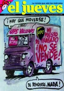 Portada del Jueves en referencia a los trabajadores de UPS Vallekas