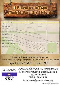 Cartel de la II Fiesta de las Tapas de Madrid Sur