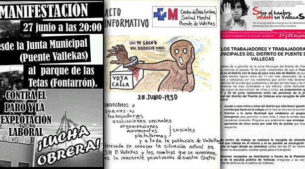 Manifestaciones y recogida de alimentos en Vallecas - 27 y 28 de Junio