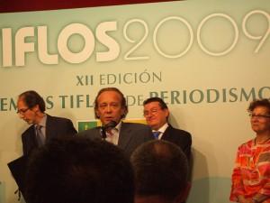 Nino Olmeda en los XII Premios Tiflos
