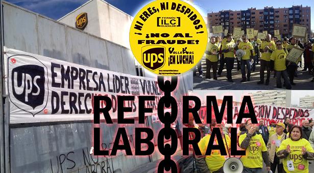 UPS baja hasta un 62% el salario de sus trabajadores de Vallecas