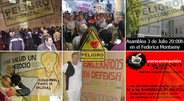 Vallecas continúa su lucha por la Sanidad – 3 y 4 de Julio