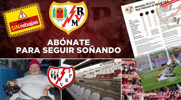 Abonos 2013-14 Rayo Vallecano y quejas de la afición