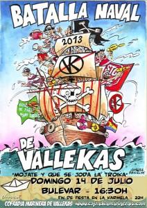 """Cartel de la Batalla Naval 2013 de """"Azagra"""""""