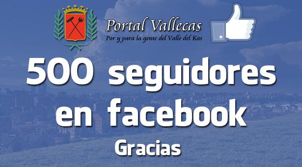 500 Seguidores en nuestra FanPage de facebook