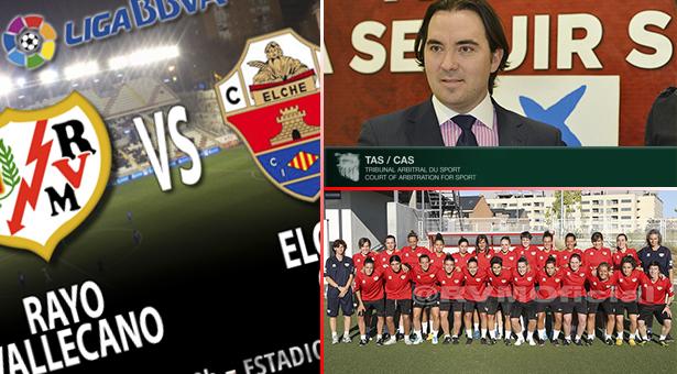 Primeros encuentros de Liga 13-14, Comunicado tras decisión del TAS y Rayo Vallecano Femenino 13-14