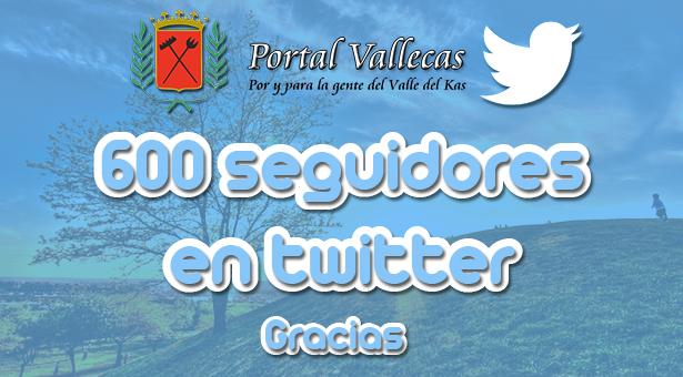 600 Followers de nuestro perfil en twitter