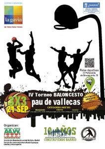 Cartel del IV Torneo de Baloncesto 2013 Pau de Vallecas