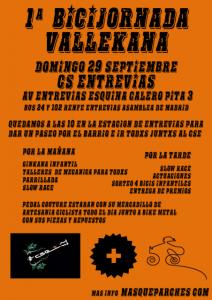 Cartel de la I Bicijornada Vallekana