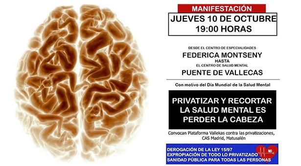 Manifestación en Vallecas el 10 de Octubre por la Salud Mental