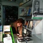 Alexandra Manzanares en la Feria del Libro de Madrid