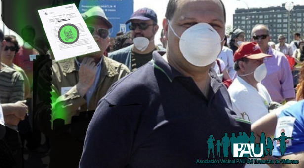 Vecinos del Pau de Vallecas en una de sus movilizaciones contra la contaminación