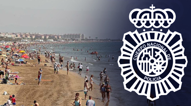 Un agente de la Policía Nacional de Villa de Vallecas salva en Alicante a una mujer de morir ahogada