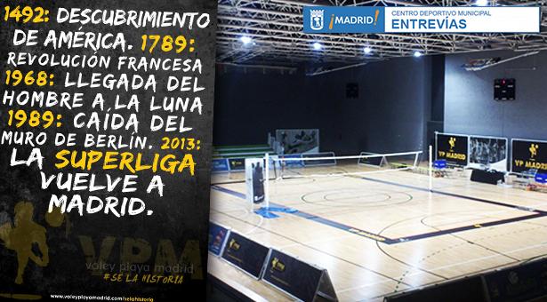 El club Voley Playa Madrid se presenta ante su afición en el C.D.M. Entrevías