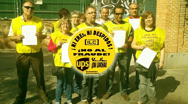 Trabajadores de UPS Vallecas acuden al Defensor del Pueblo