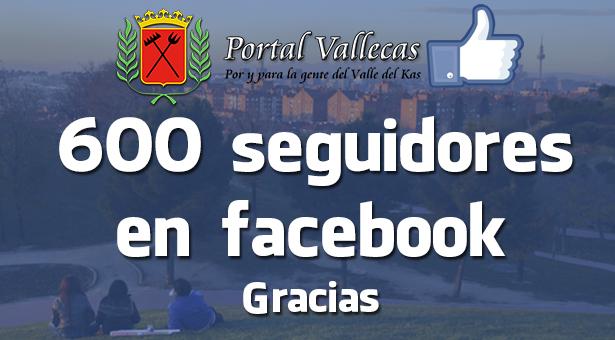 600 Seguidores en nuestra FanPage de facebook