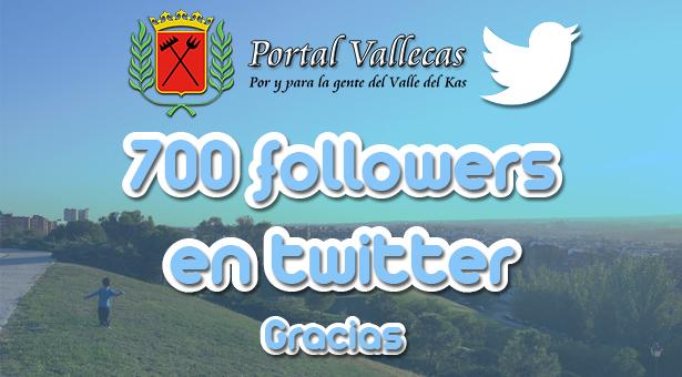 700 followers en nuestra cuenta de Twitter