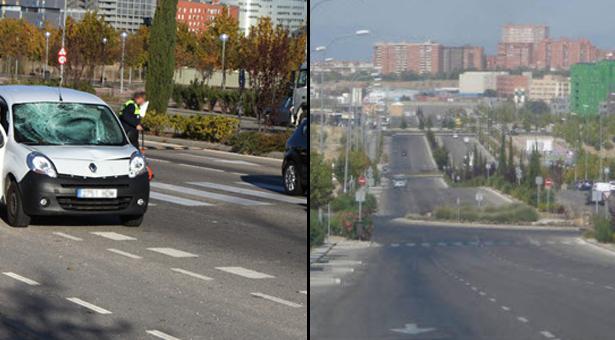 Atropello en Avenida del Mayorazgo en el PAU