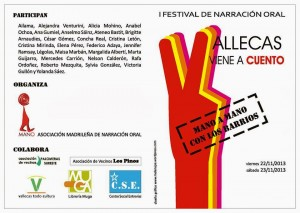 "Cartel del I Festival de Narración Oral ""Vallecas viene a cuento"