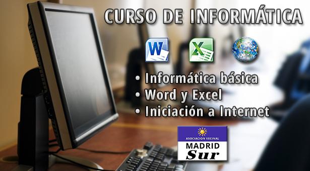 Curso de Informática en la Asociación Vecinal Madrid Sur