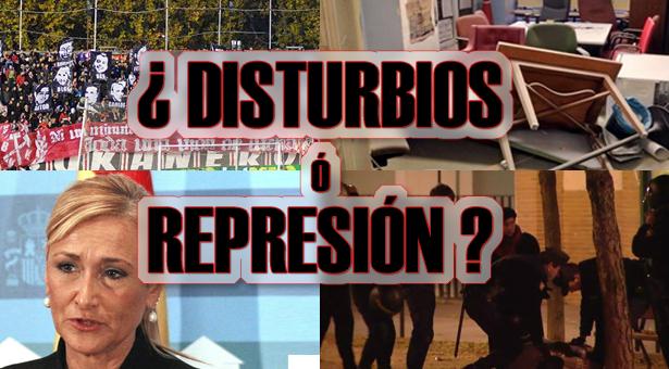 ¿Disturbios o Represión? 19 Detenciones