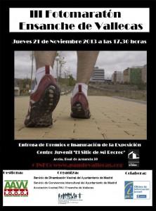 Cartel del III Fotomaratón del Ensanche de Vallecas