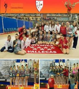 Fotos de las gimnastas y la entrega de premios
