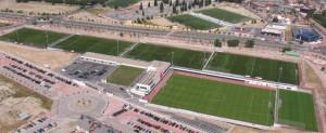 Imagen aerea de los terrenos de juego